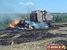 Brand einer Strohpresse